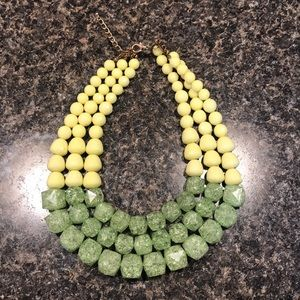Green and Yellow Layered Necklace
